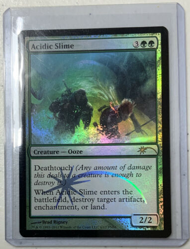 FOIL Promo Acidic Slime NM Rare MTG Magic the Gathering Green Creature Card
