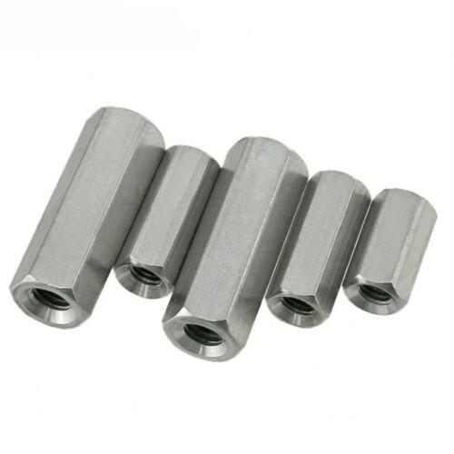 M5 M8 M10 M12 M16 M20 M24 Rod Coupling Nuts Hex Nuts DIN934 304 A2 Stainless