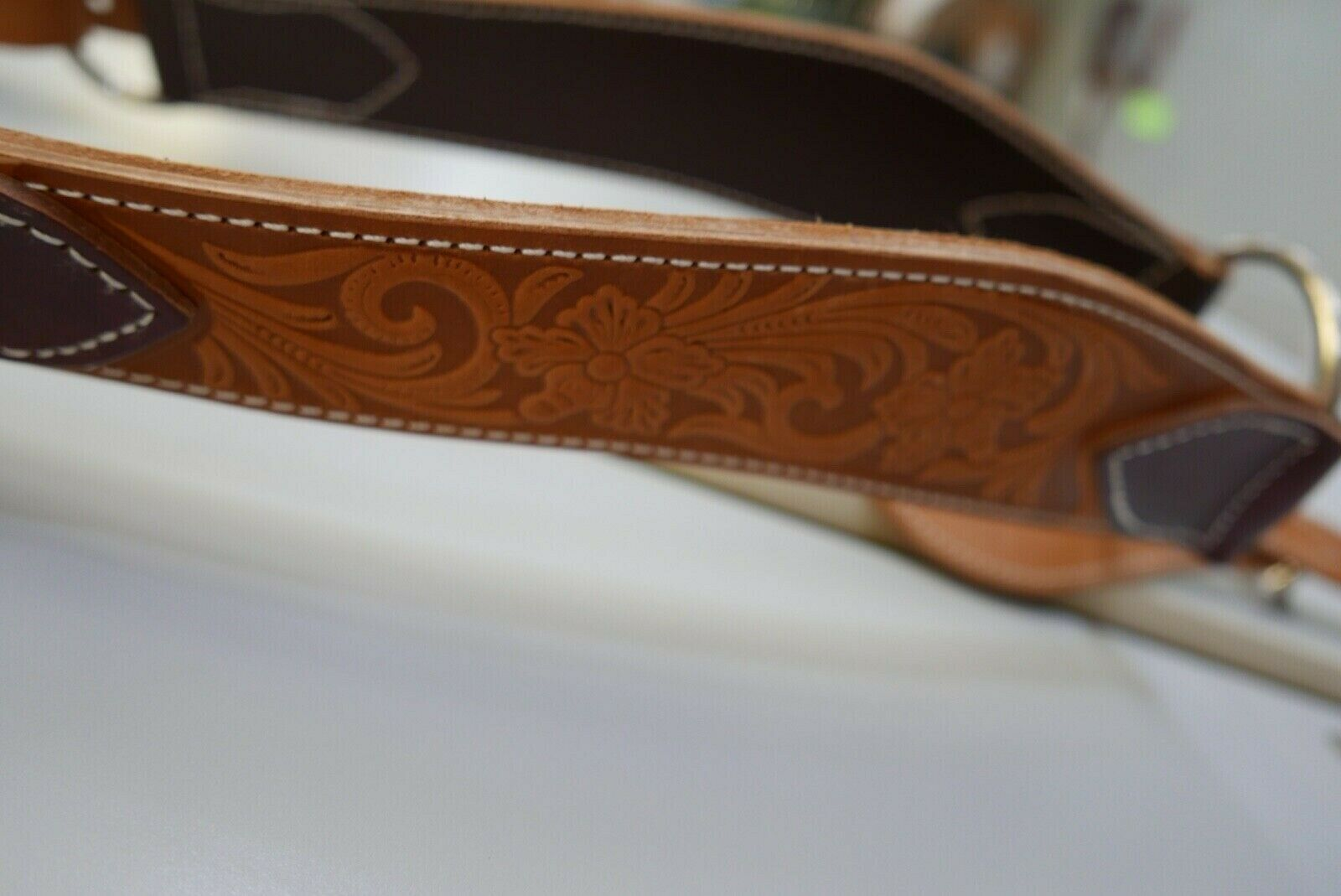 Handmade Breast Collar Hand tooled Inlay  HT010945