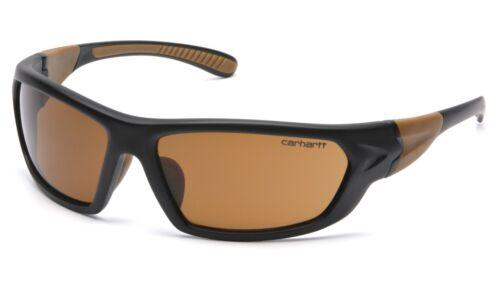 Carhartt Carbondale Safety Glasses Black Frames and BRONZE Lens CHB218D