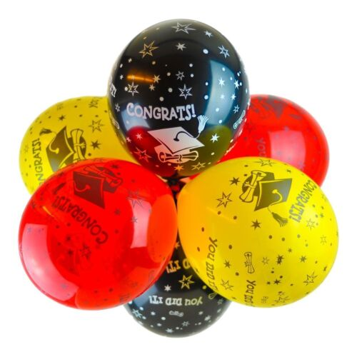"Package of 10 12/"" Graduation /'Congrats You Did It/' Latex Balloons"