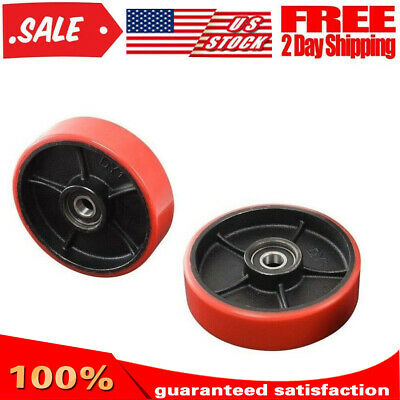 1 Pair Pallet Jack Forklift Wheels Replacement Sets With Hub Bearings Poly Tread