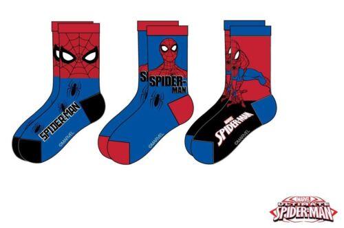 3er Pack Disney Spiderman Söckchen Socken Strümpfe Gr 23-38 NEU und OVP