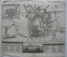 Ostende Belge Belagerung 1601-1604 Grundrissplan Befestigungen Kupferstich 1700