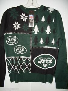 half off 2ef79 e0579 Details about NFL Busy Block Ugly Sweater Youth NEW YORK JETS Size Youth  Small