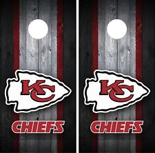 Kansas City Chiefs Cornhole Wrap Decal Stickers Vinyl Gameboard Skin Set JC067
