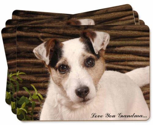 Jack Russell 'Love You Grandma' Picture Placemats in Gift Box, ADJR56lygP
