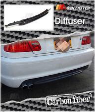 CARBON FIBER REAR DIFFUSER SINGLE 2 TIPS for BMW E46 3-SERIES M-TECH II BUMPER