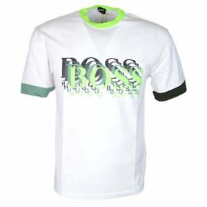 Hugo-BOSS-twell-1-Cotone-Stampato-Logo-T-SHIRT-BIANCA