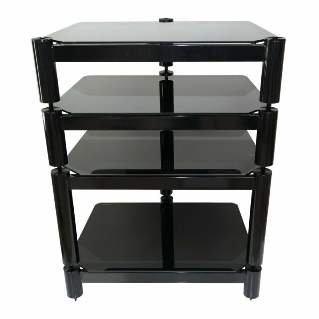 Fisual Ensemble Gloss Black 4 Shelf Hi-Fi Rack