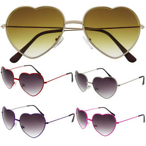 ee63e25278 Image is loading Vintage-Retro-Fashion-Lolita-Heart-Shaped-Aviator-Metal-