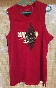 Nike-Air-Jordan-Jumpman-Classic-Wings-Tank-top-Men-s-Size-M-Jersey-Red-Nike-BRED