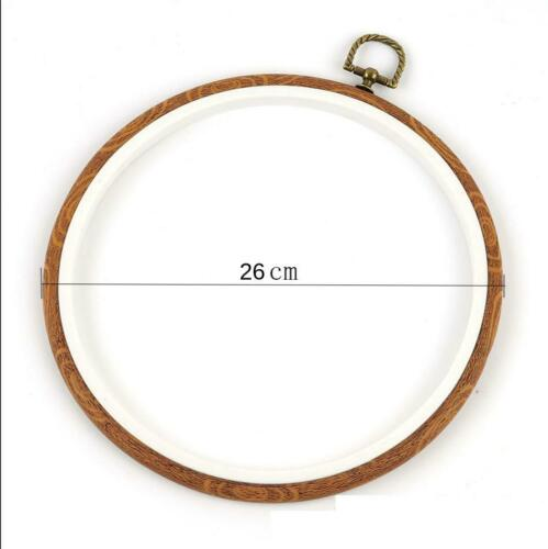 Imitation Wood Embroidery Hoop Ring Circle Cross Stitching Bamboo Frame Sewing