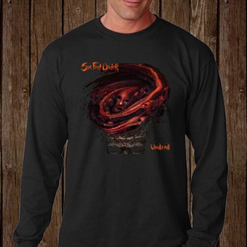 Six Feet Under Undead Death Metal Rock Band Long Sleeve Black T-Shirt Size S-3XL