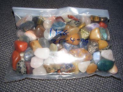 1KG Mixed Tumblestones Crystal 20mm-40mm A Grade Over 80 Gemstones Wholesale