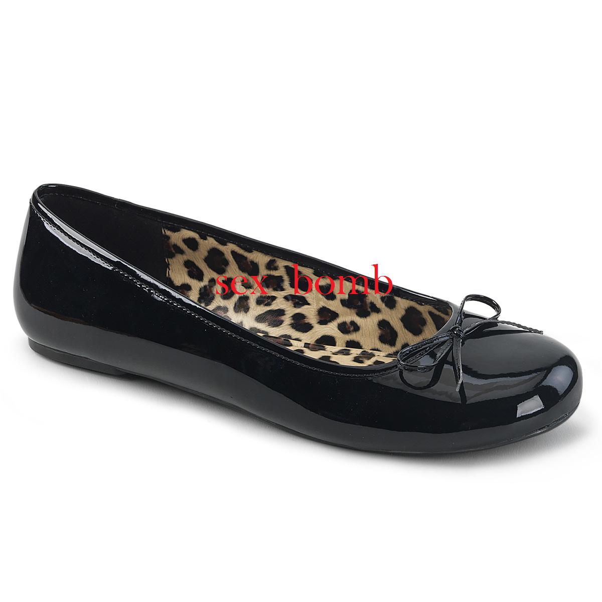 Schuhe BALLERINE NERO dal 39 al 46 NERO BALLERINE LUCIDO fiocchetto tacco flat GLAMOUR fashion 6bc366