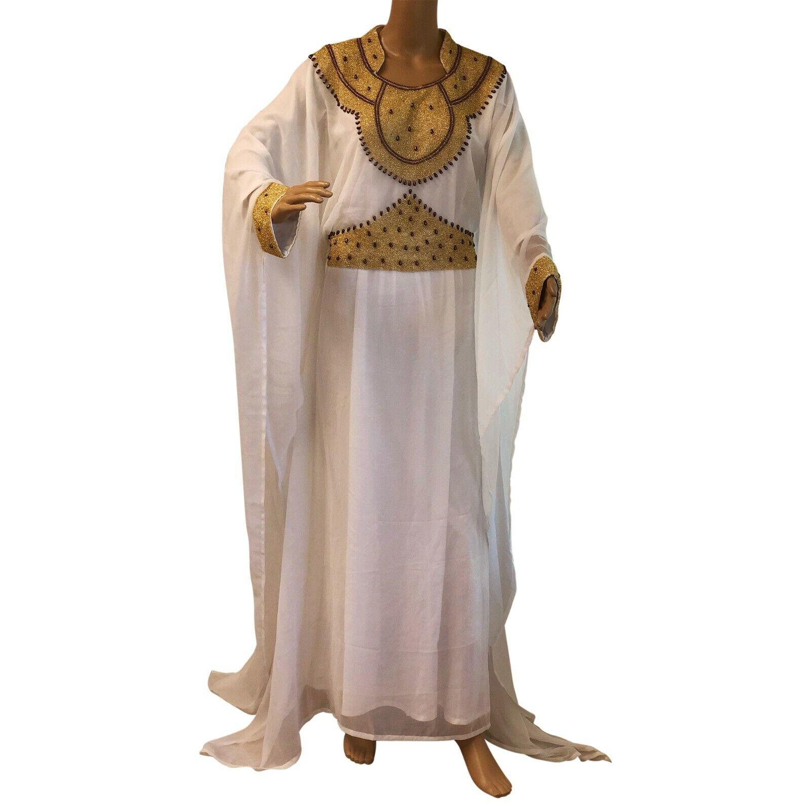 Mgoldccan Kaftan Farasha caftan one size dress formal wear maxi gown evening wear