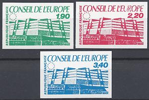 TIMBRE-DE-SERVICE-CONSEIL-DE-LEUROPE-N-93-95-NON-DENTELE-IMPERF-1986-NEUF-MNH