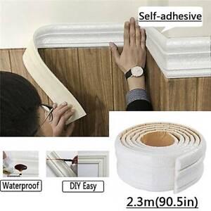 3D-PE-Foam-Wall-Sticker-Waterproof-Self-Adhesive-Floral-Border-Removable-Decor