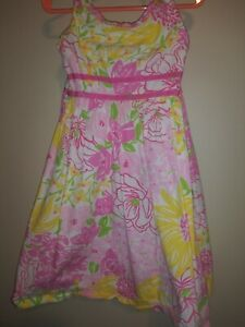 Lilly-Pulitzer-Little-Girls-Spring-In-Bloom-Dress-Sz-5-Adorable