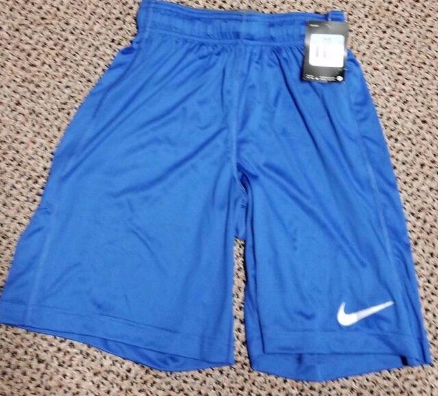 f4c1384c0aa8 New Nike Youth Boys  Team Fly Dri-Fit Training Basketball Shorts Blue Medium