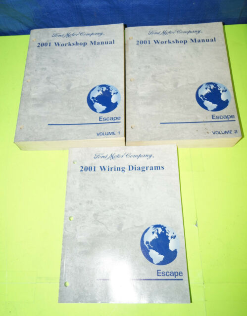2001 Ford Escape Oem Factory Service Shop Manual Set