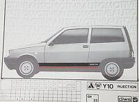 KIT ADESIVI AUTOBIANCHI Y10 INJECTION - ARGENTO - 4403