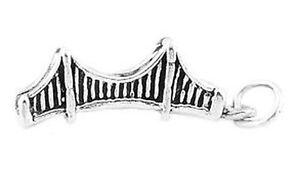 Sterling silver 3d golden gate bridge charm for Golden gate bridge jewelry