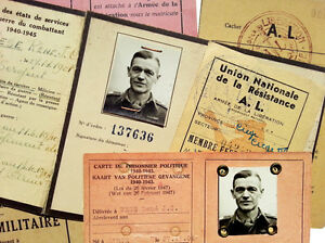 1941-WWII-Belgian-Resistance-POLITICAL-POW-MINI-ARCHIVE-German-Prisoner