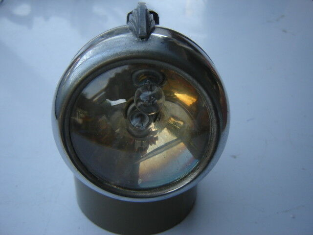 VINTAGE CHROME FRONT   HEAD LIGHT FOR BICYCLE - NOS