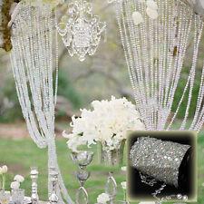 99FT Garland Diamond Strand Acrylic Crystal Bead Curtain Wedding DIY Party Decor