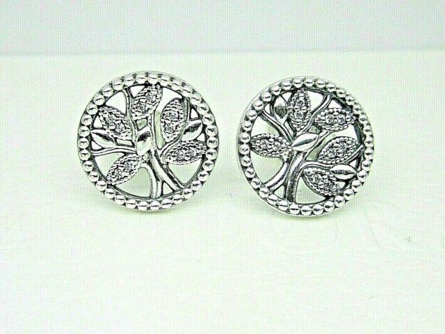 Sterling Silver Family Tree Earrings