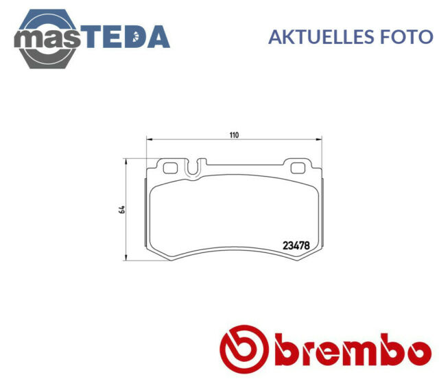 BREMBO Bremsbeläge Bremsbelagsatz Bremsklötze Hinten P 50 061
