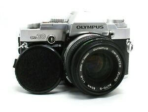 Vintage-Olympus-om30-35mm-SLR-Film-Camera-amp-50mm-f1-8-Auto-S-Zuiko