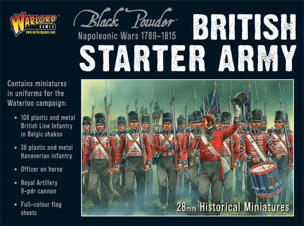 Napoleonic British Starter Army (WATERLOO) - Warlord Games WGNBR08 - free post