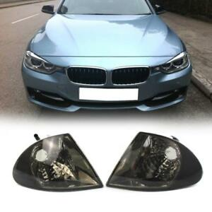 Details About 1 Pair Clear Lens Turn Signal Indicator Corner Lights For Bmw 3 Series E46 Sedan