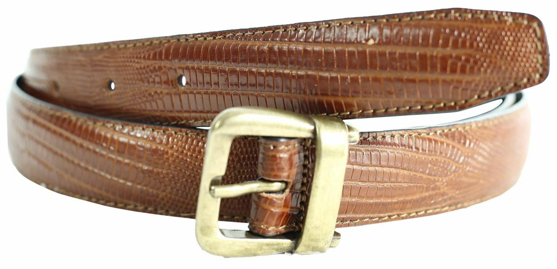 ! nuevo! Mini en relieve de impresión Lagarto llegó Dame Calidad De Cuero Cinturones Hebilla de Latón