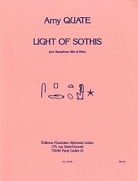 QUATE LIGHT OF SOTHIS ALTO SAX /& PIANO Amy Quate