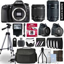 Canon EOS 80D SLR Camera 4 Lens Kit 18-55 + 55-250mm STM + 64GB Accessory Bundle