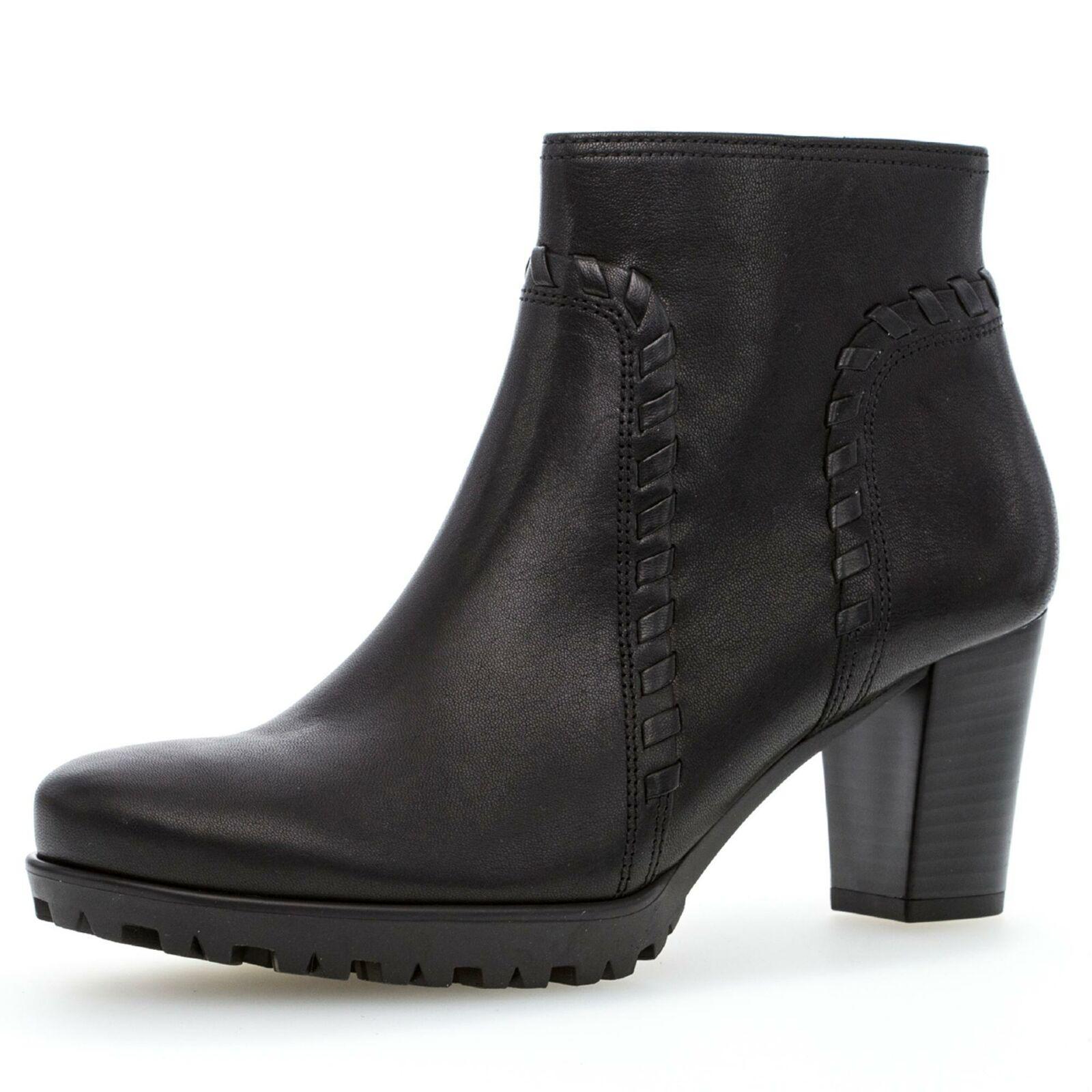Gabor Comfort Damen klassische Stiefelette Komfortstiefelette Schuhe schwarz