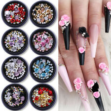 3D Nail Art Rhinestones Glitter Rose Jewelry Gems Rivet Mixed Tips Decoration