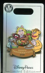 Thanksgiving-2018-Muppets-Kermit-Miss-Piggy-Fozzie-Bear-LE-Disney-Pin-132103