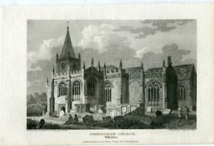 Chippenham-Church-IN-Wiltshire-Engraved-By-J-C-Smith-Of-A-Drawing-Of-J-Britton