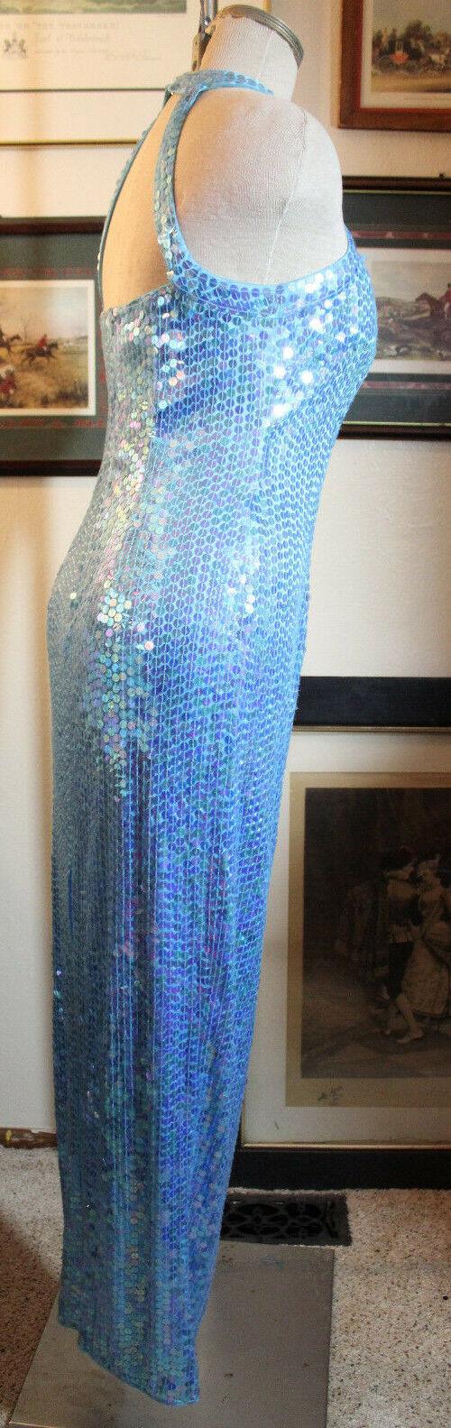 Adrianna Papell Azul Azul Azul Vestido Largo de Noche Formal Con Lentejuelas Bridesmaids 4 dac474