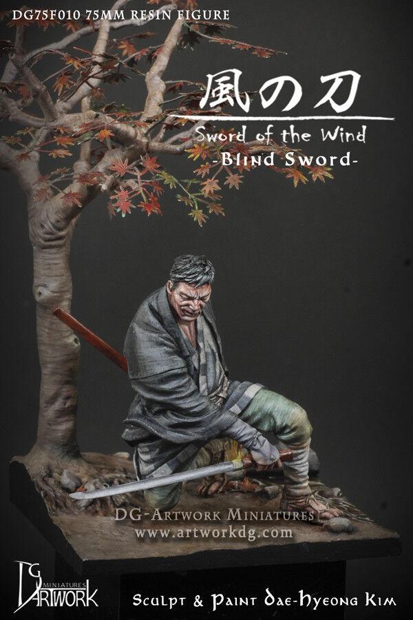 DG Artwork Blind Sword Samurai Ronin inc. scenic base 75mm Unpainted kit