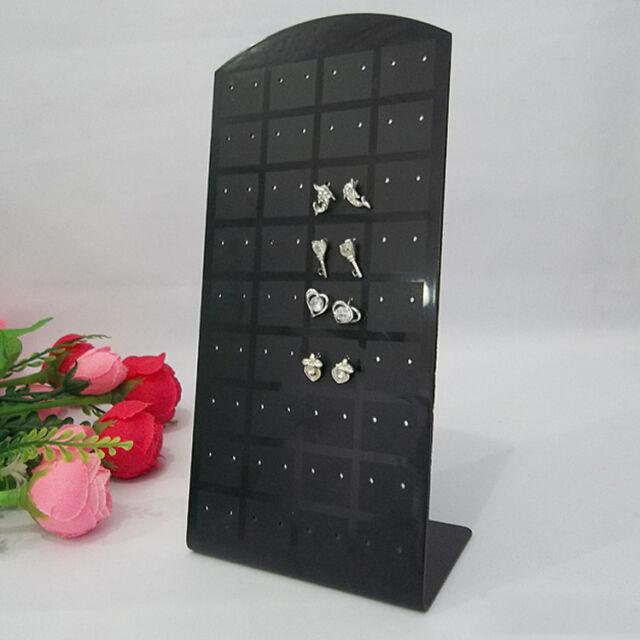 36 Pairs Earrings Jewelry ShowCase Plastic Display Rack Stand Organizer Holder