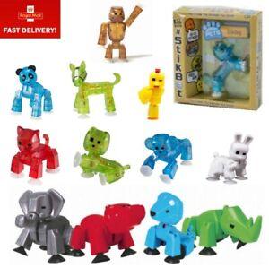 NUOVO originale in scatola stikbot Pets ANIMAZIONE stickbots Figura ~ Verde /& Arancione