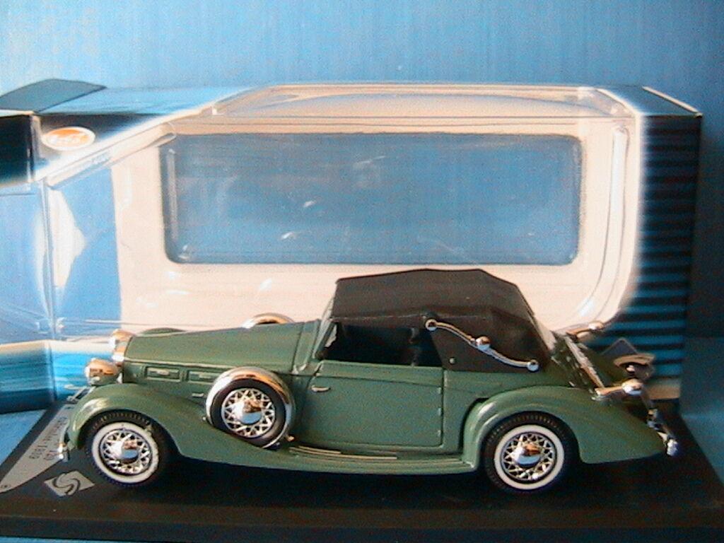 DELAGE D8 120 CABRIOLET + CAPOTE 1939 SOLIDO 1 43 ROADSTER CONgreenIBLE green