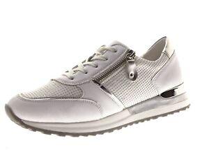 Remonte Damen Schuhe Sneaker Slipper Freizeitschuhe Laufschuhe Weiß Gr 37 Leder