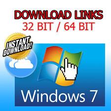 Windows 7 SP1 Home/Pro 32/64 Bit - ISO File - Digital Download Only !